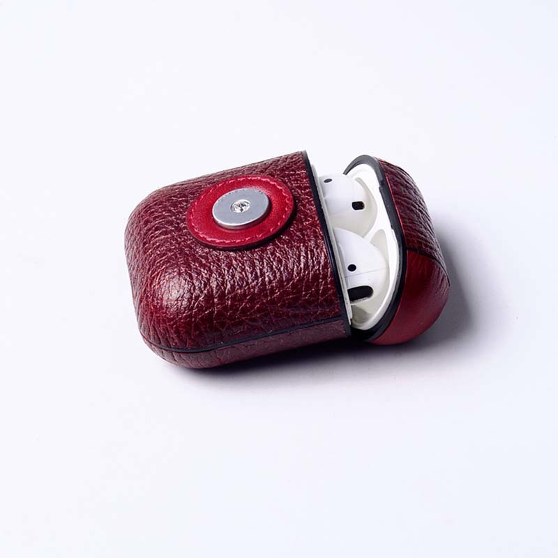 New Design Leather Protective Shockproof Cover Case For Apple AirPods Charging Case