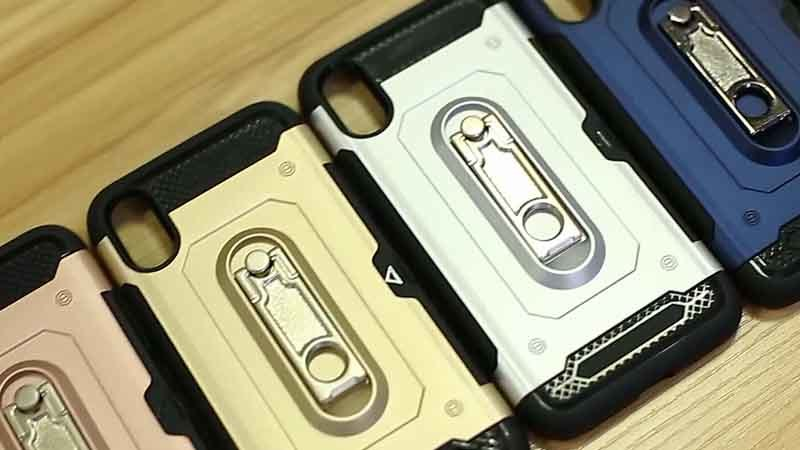 2 in 1 Kickstand Phone Case with Finger Ring Holder