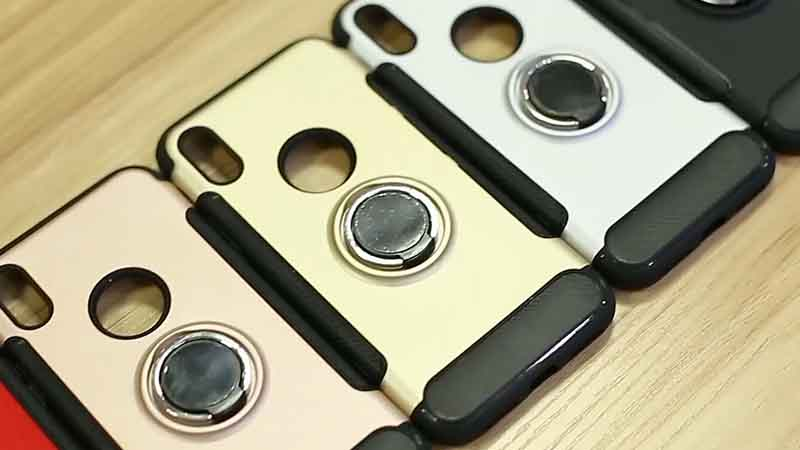 PinJing Electronics-Magnetic Absorption Phone Case with Ring Stand