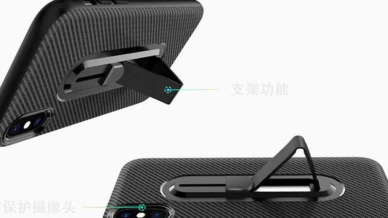 Carbon Fiber Phone Case with Invisible Bracket