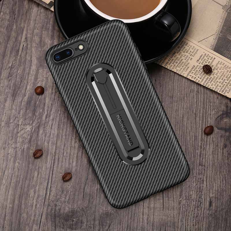 PinJun Electronic-Carbon Fiber Mobile Phone Case Iphone 8 With Invisible Bracket-2