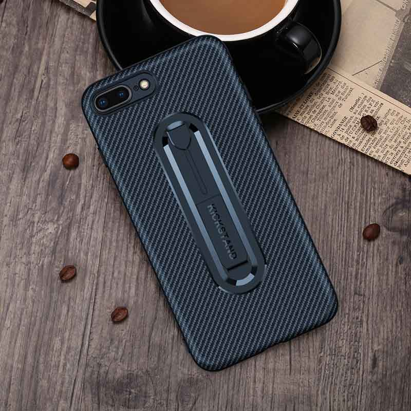 PinJun Electronic-Carbon Fiber Mobile Phone Case Iphone 8 With Invisible Bracket-4