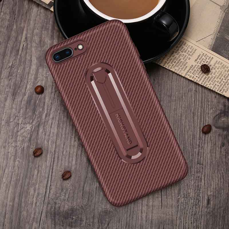 PinJun Electronic-Carbon Fiber Mobile Phone Case Iphone 8 With Invisible Bracket-5