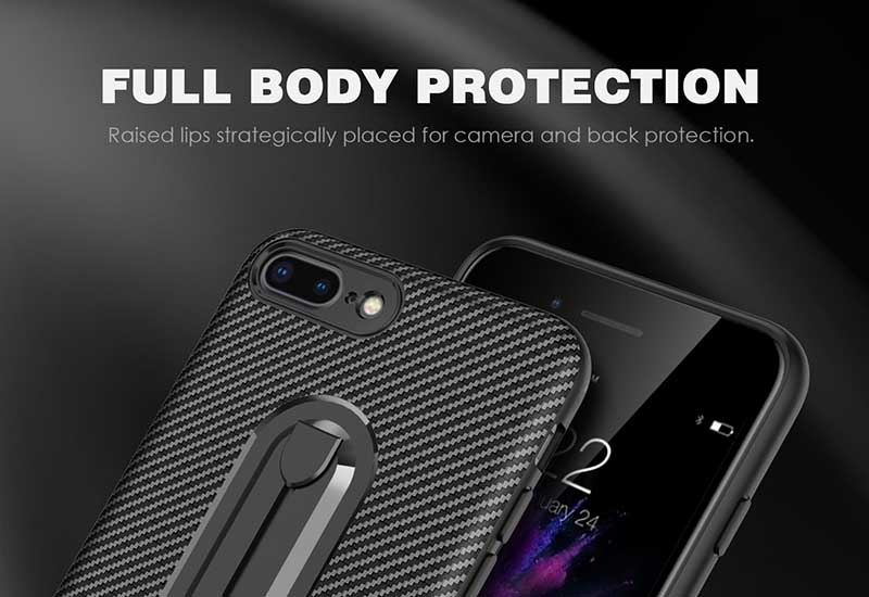 PinJun Electronic-Carbon Fiber Mobile Phone Case Iphone 8 With Invisible Bracket-7