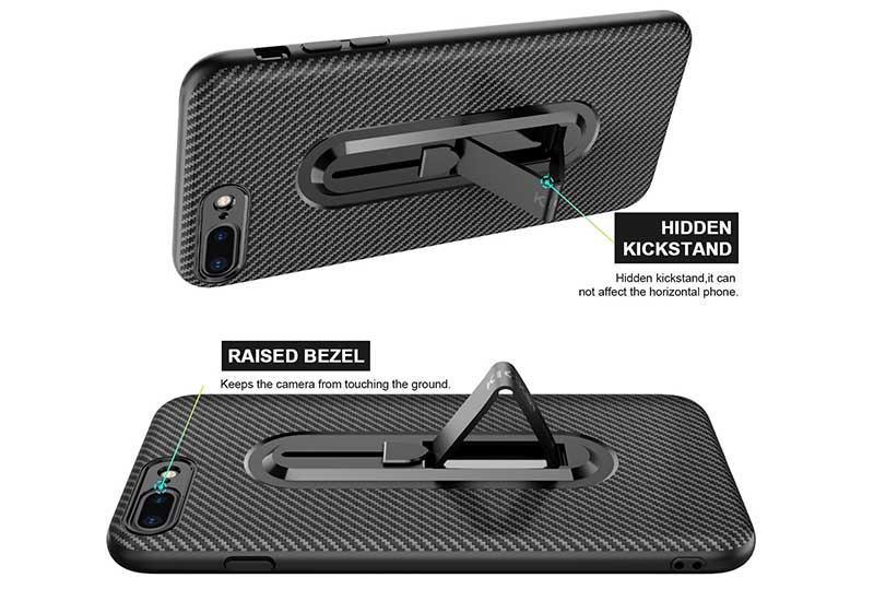 PinJun Electronic-Carbon Fiber Mobile Phone Case Iphone 8 With Invisible Bracket-9