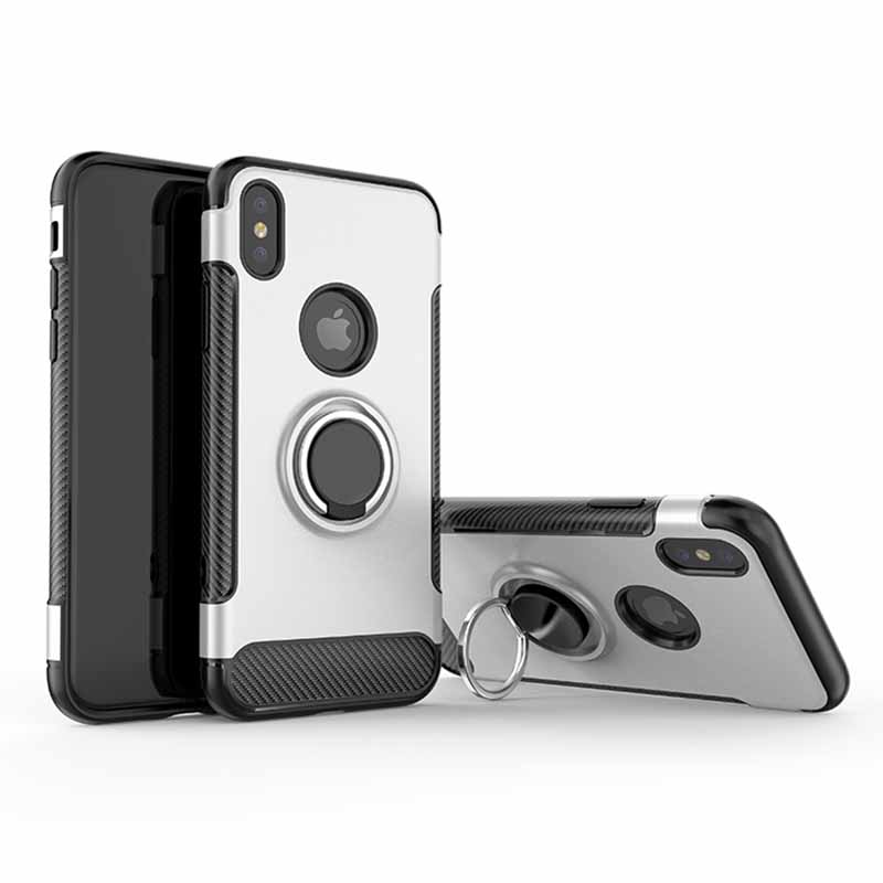 PinJun Electronic-Phone Case for iPhone 678 PC+TPU With Metal Finder Ring Holder-4