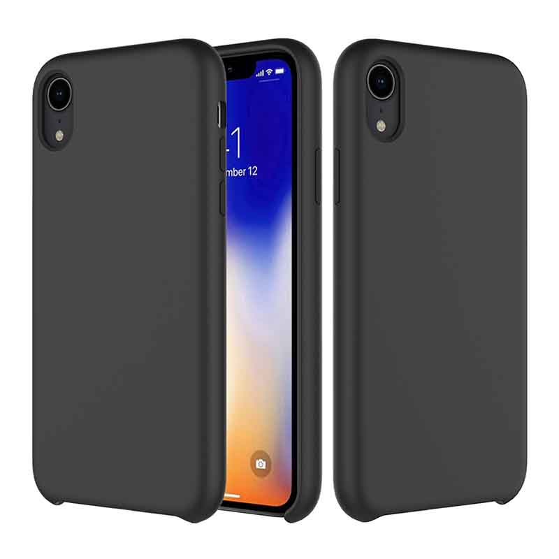 PinJun Electronic-iPhone XR Liquid Silicone Phone Case Shockproof Cell Case-1