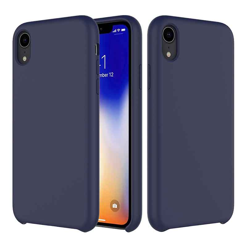 PinJun Electronic-iPhone XR Liquid Silicone Phone Case Shockproof Cell Case-3