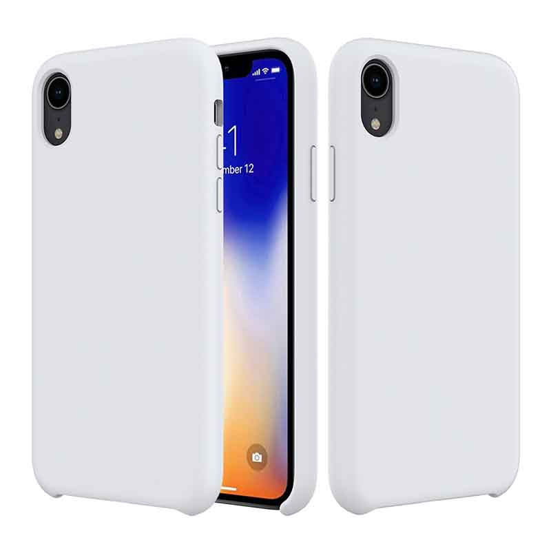 PinJun Electronic-iPhone XR Liquid Silicone Phone Case Shockproof Cell Case-5