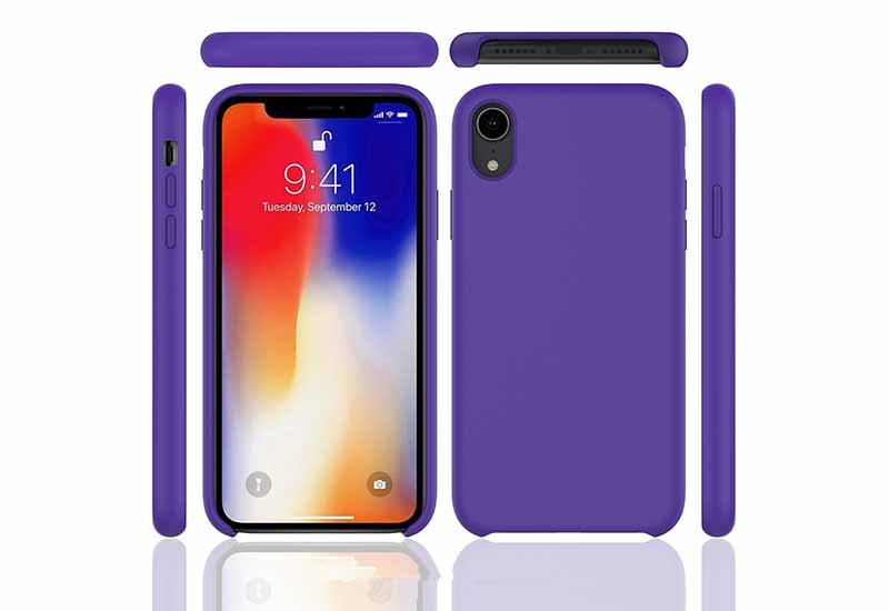 PinJun Electronic-iPhone XR Liquid Silicone Phone Case Shockproof Cell Case-7