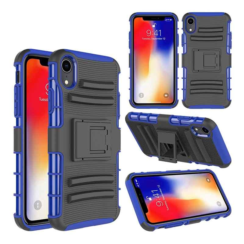 2019 Belt Clip Phone Case TPU+PC 3 in 1 Shockproof Case For iPhone XS