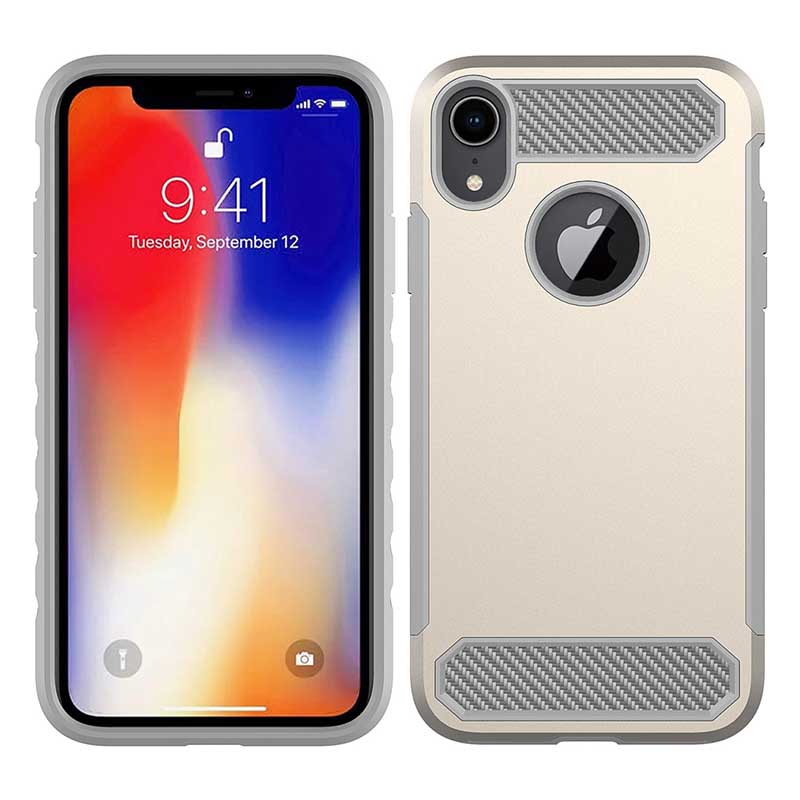 PinJun Electronic-Phone Case Carbon Fiber TPU Mobile Case CoverFor iPhone XS-1