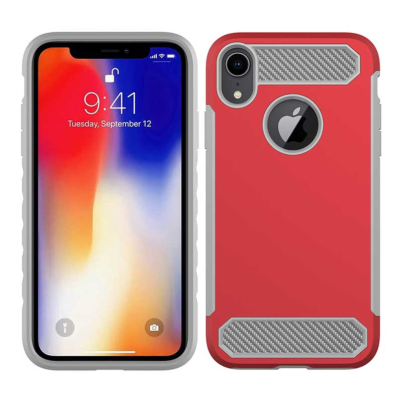 PinJun Electronic-Phone Case Carbon Fiber TPU Mobile Case Cover For iPhone XS-3