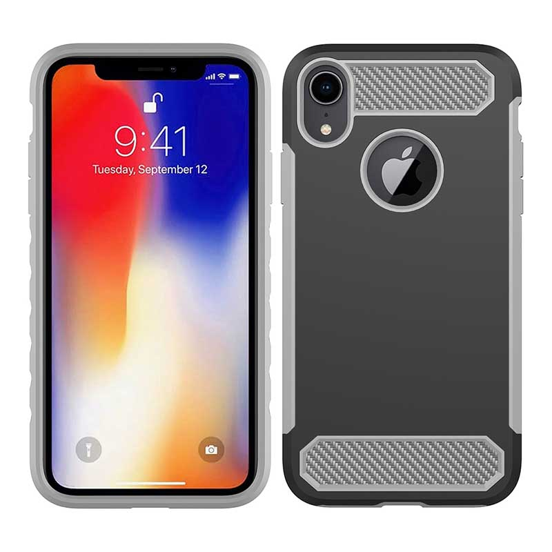 PinJun Electronic-Phone Case Carbon Fiber TPU Mobile Case Cover For iPhone XS-4