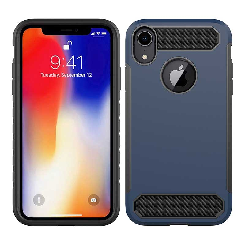 PinJun Electronic-Phone Case Carbon Fiber TPU Mobile Case Cover For iPhone XS-5