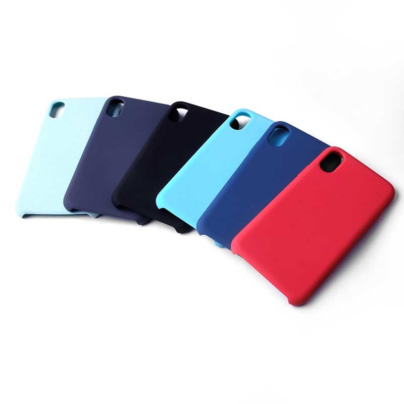 For iPhone XS MAX Silicone Phone Case With Microfiber GJH00008
