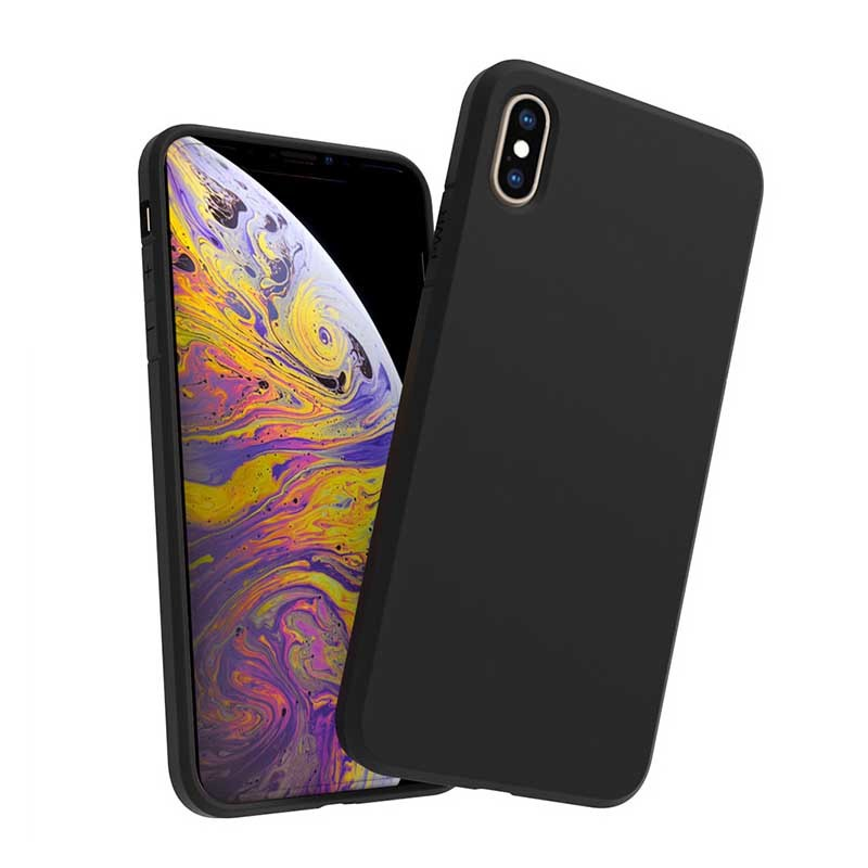 For iPhone XS Max 1.5mm Matt TPU Shockproof Phone Case GJH00006