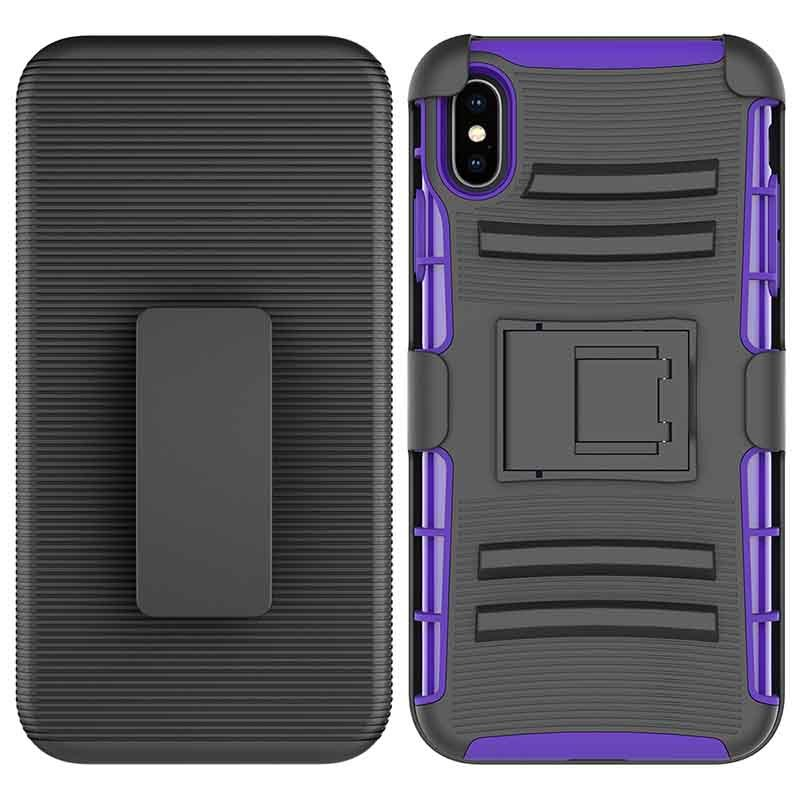 360 Shockproof Impact Heavy Duty Holster Combo Belt Clip Case Case For iPhone XS MAX