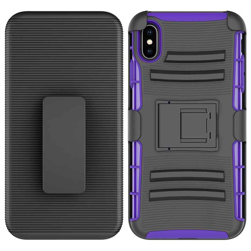PinJun Electronic-Heavy Duty Holster Combo Belt Clip Case Case For iPhone XS MAX