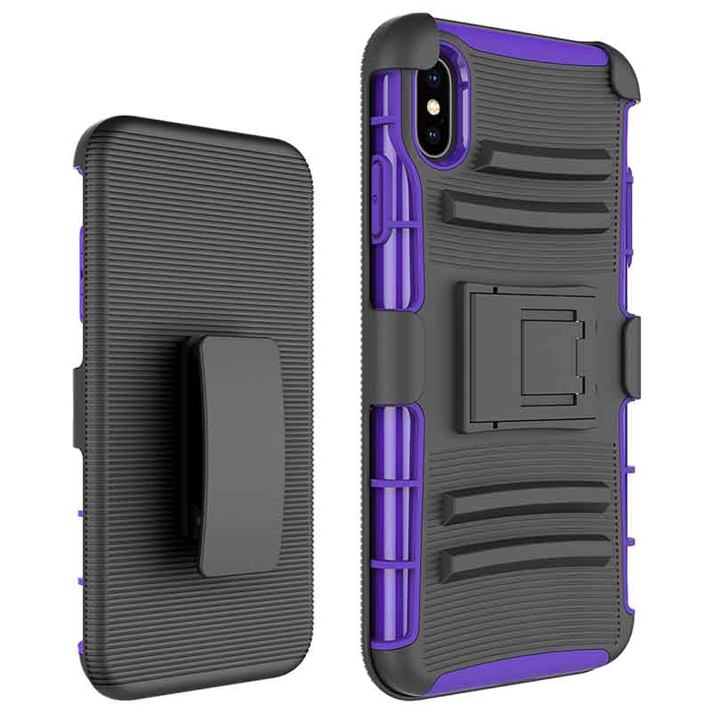 PinJun Electronic-Heavy Duty Holster Combo Belt Clip Case Case For iPhone XS MAX-1