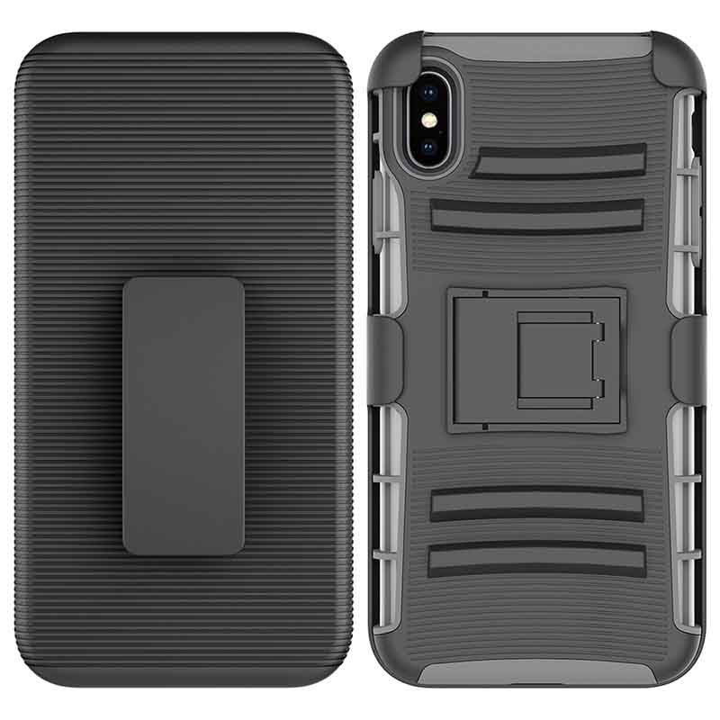 PinJun Electronic-Heavy Duty Holster Combo Belt Clip Case Case For iPhone XS MAX-2