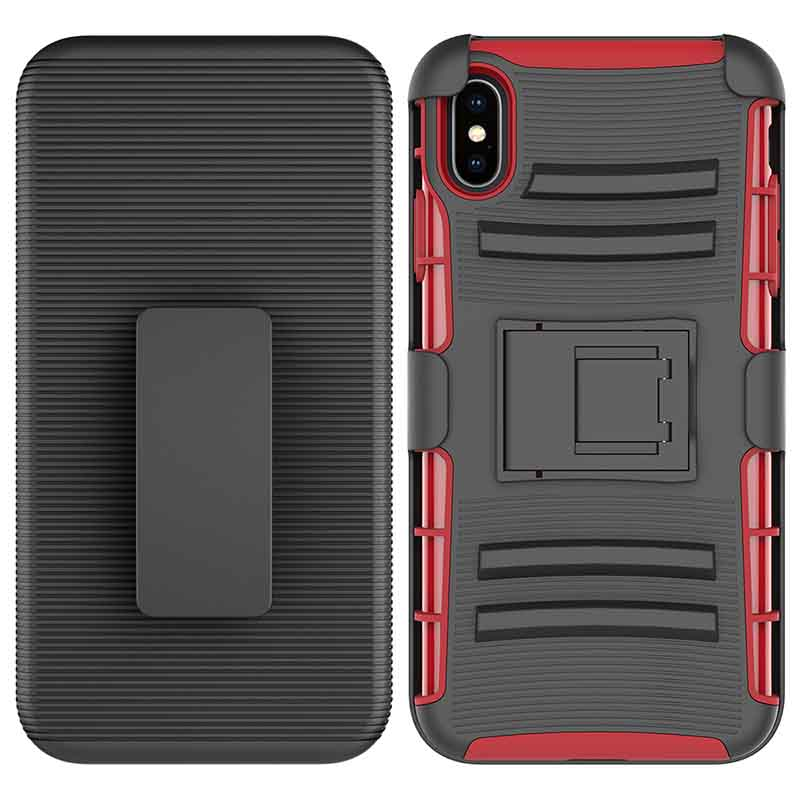 PinJun Electronic-Heavy Duty Holster Combo Belt Clip Case Case For iPhone XS MAX-3