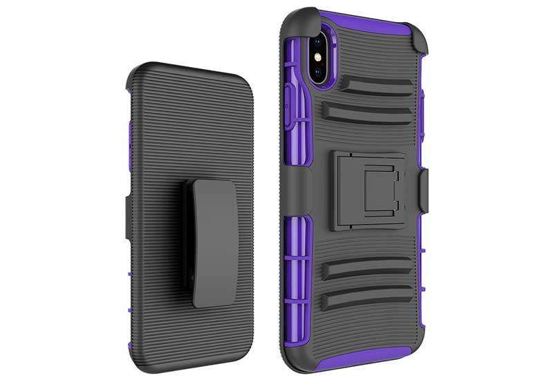 PinJun Electronic-Heavy Duty Holster Combo Belt Clip Case Case For iPhone XS MAX-7