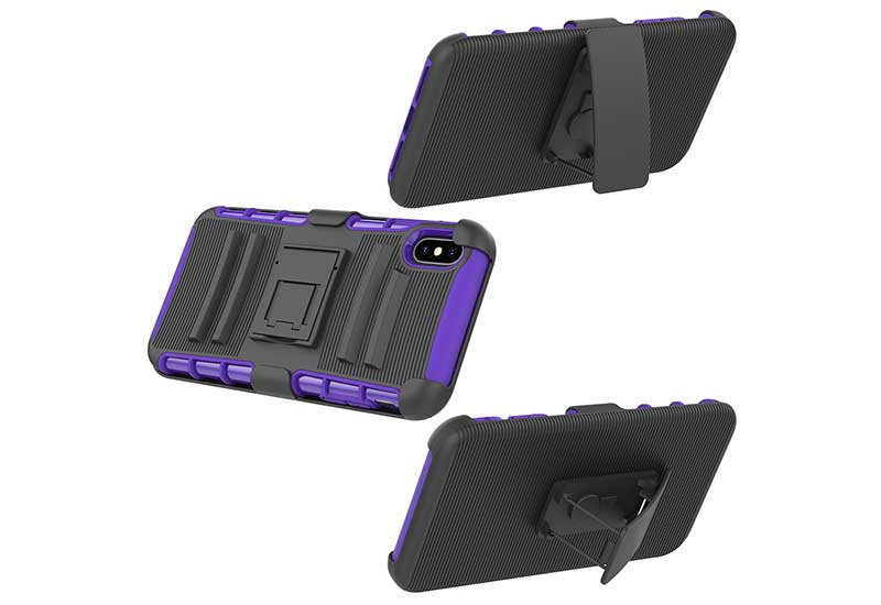 PinJun Electronic-Heavy Duty Holster Combo Belt Clip Case Case For iPhone XS MAX-8