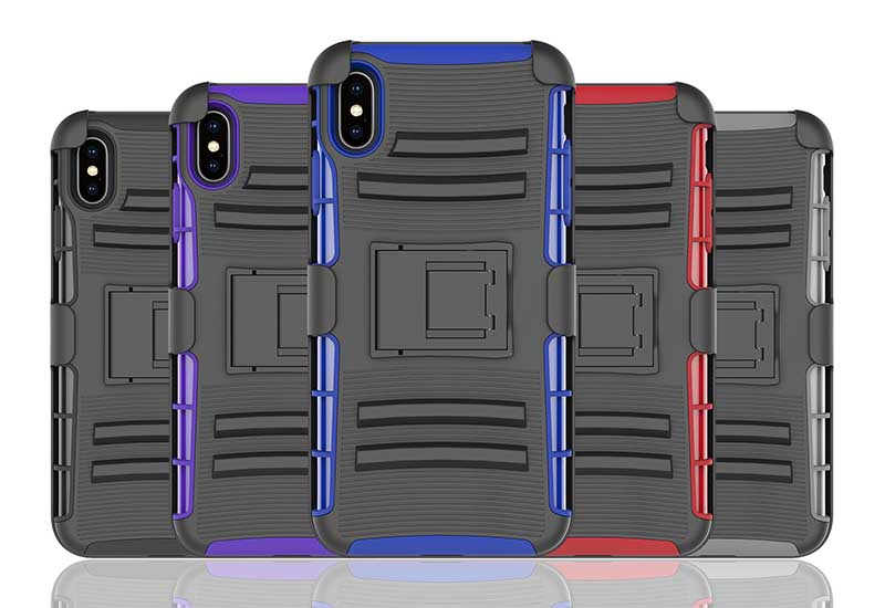 PinJun Electronic-Heavy Duty Holster Combo Belt Clip Case Case For iPhone XS MAX-9