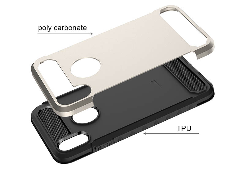 PinJun Electronic-Shockproof Dual Layer Tpu Pc Carbon Fiber Texture Cell Phone Cover-6
