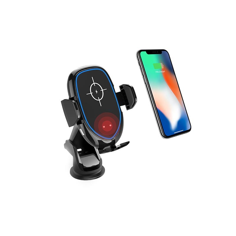 10W Fast Charging Automatic QI Wireless Car Charger with Fan