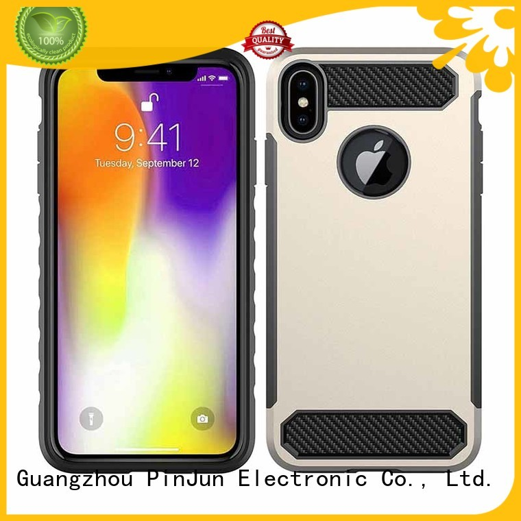 Shockproof Dual Layer TPU PC Carbon Fiber Texture Cell Phone Cover Case For iPhone XS MAX
