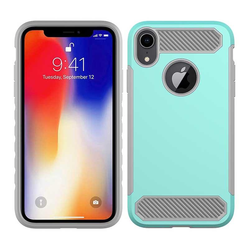 PinJun Electronic-Phone Case Carbon Fiber TPU Mobile Case Cover For iPhone XS