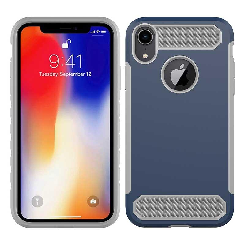 PinJun Electronic-Phone Case Carbon Fiber TPU Mobile Case Cover For iPhone XS-2