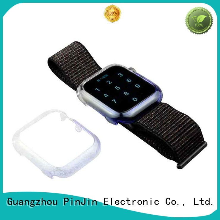 PinJin Electronic leather iwatch case sale for mobile phone