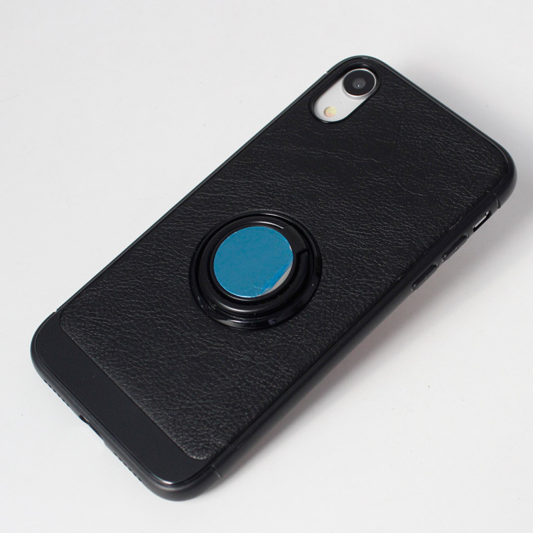 iPhone XR 360 Rotation Finger Ring Leather Phone Case PJA00029