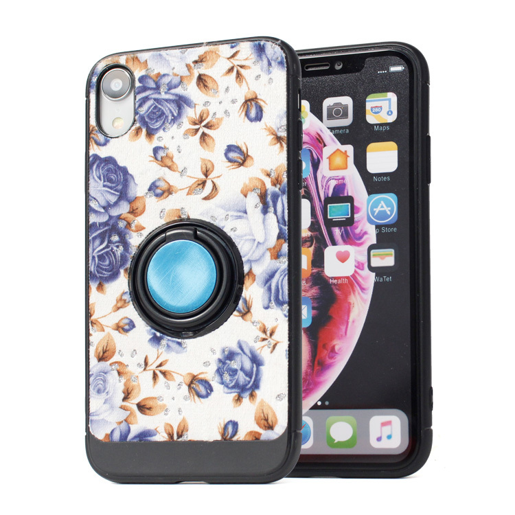 iPhone XR Kickstand Case DIY Printing Leather Cover PJA00030