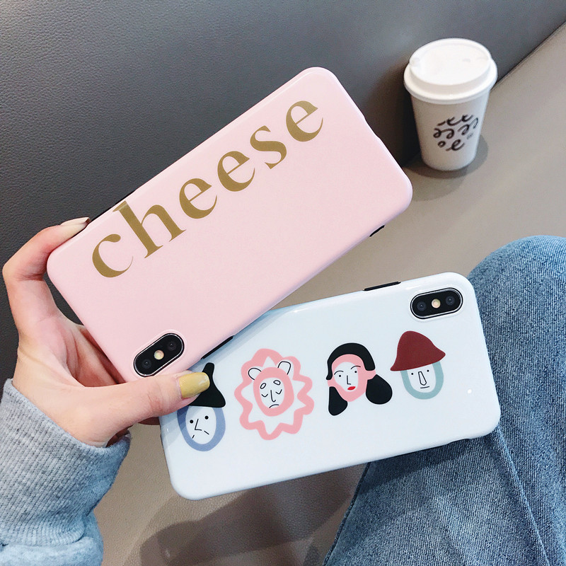 Cheese Emoji Hybrid Hard IMD Back Cover for iPhone XS PJA00026