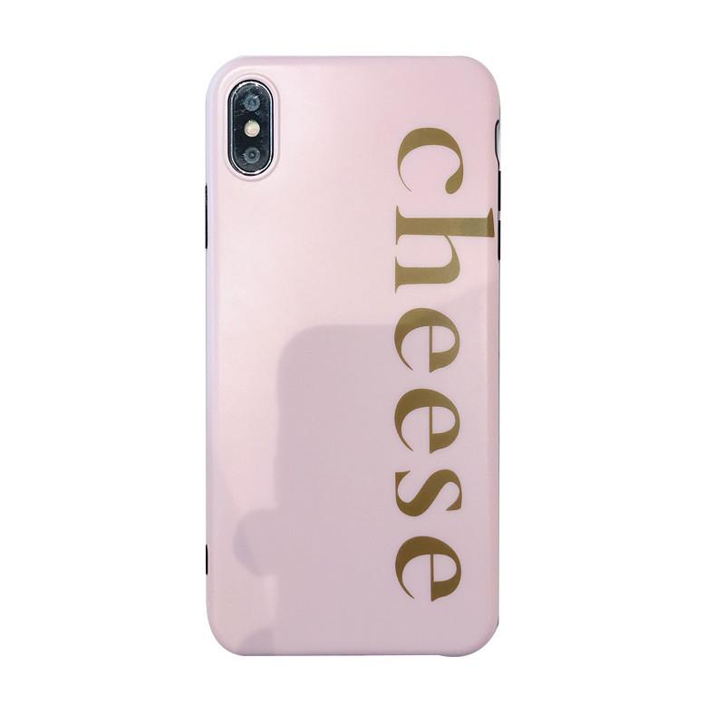 Cheese Emoji Hybrid Hard IMD Back Cover for iPhone XS PJA00026