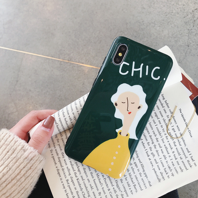 iPhone XS MAX Shiny Chic Girl IMD Technology Phone Case PJA00027