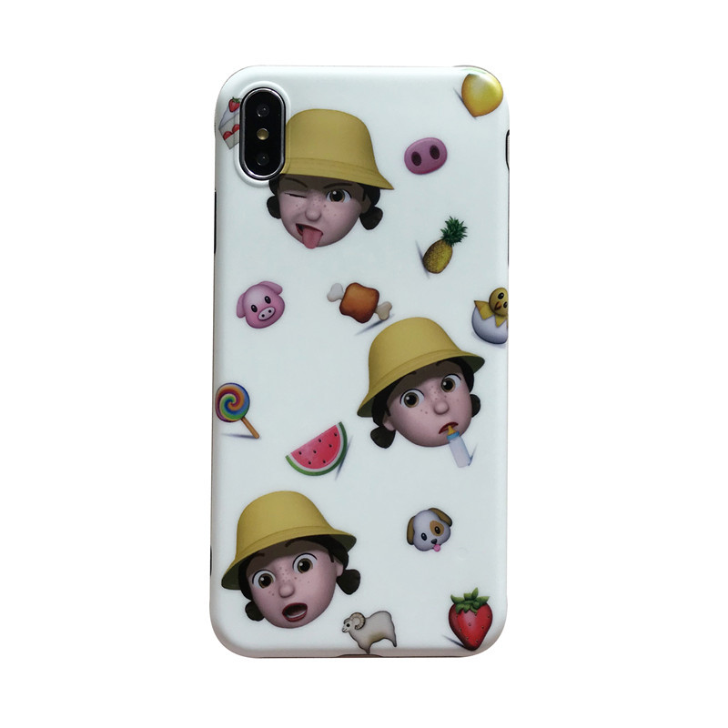 Ins Doll Emoji IMD Phone Case for iPhone X/XS PJA00028