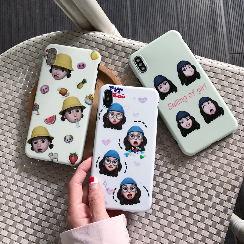 PinJun Electronic-Phone Case For Iphone | Ins Doll Emoji Imd Phone Case For Iphone Xxs Pja00028