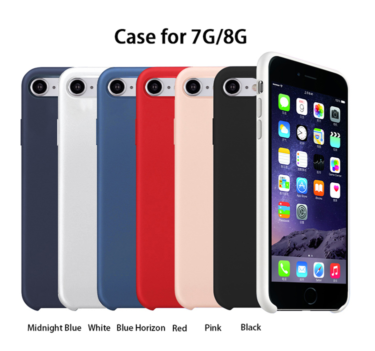 Wholesale TPE Liquid Silicone Case for iPhone 7/8 PJA00035