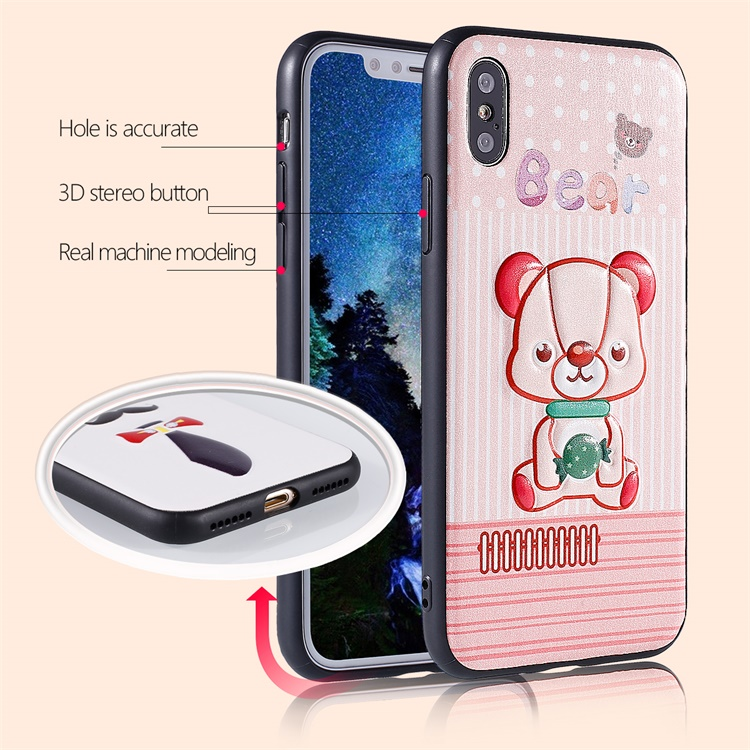 PinJun Electronic-Best Marble Phone Case 3d Embossing Printing Leather Case For Cellphone-2