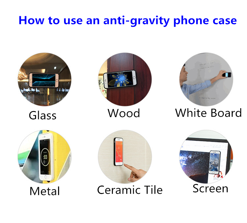 PinJun Electronic-Magnetic Case | Anti-gravity Nano Adsorption Mobile Phone Case-2