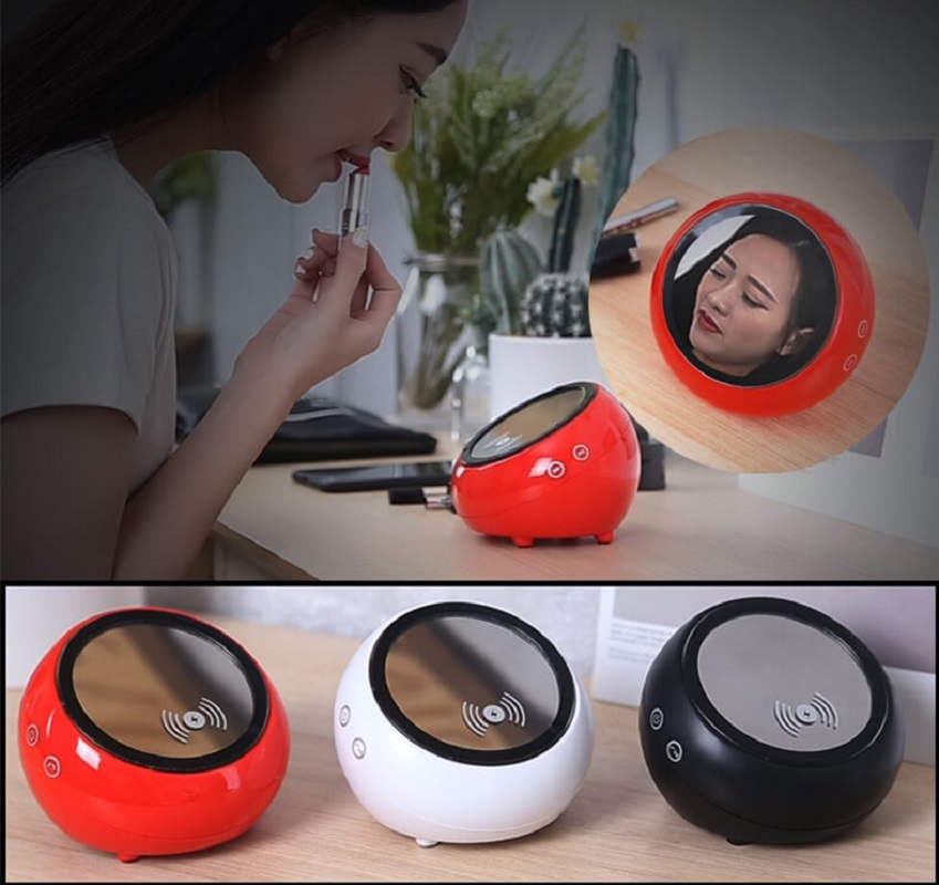 TWS Bluetooth Speaker With QI Wireless Charger-New Design!!
