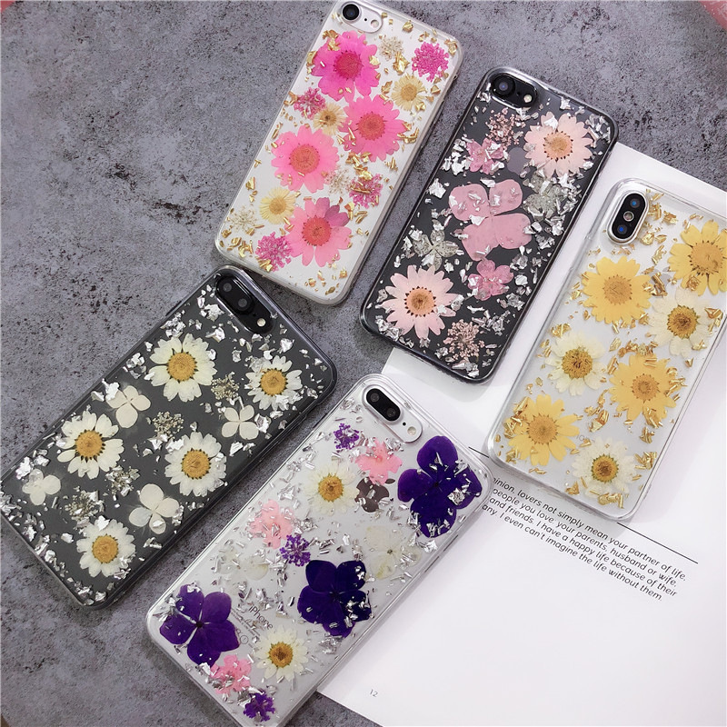 Handmade Real Dry Flower Phone Case