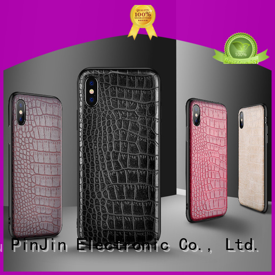 PinJin Electronic quality phone wallet case rotation for iphone