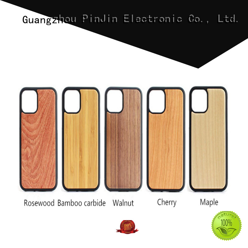 PinJin Electronic popsocket phone case wood degree for phone