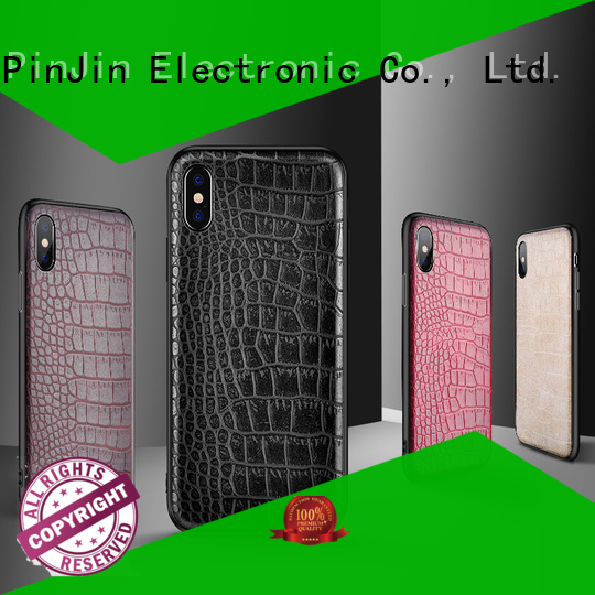 PinJin Electronic antidrop lether phone case supplier for phone